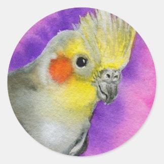 Disco Cockatiel Classic Round Sticker