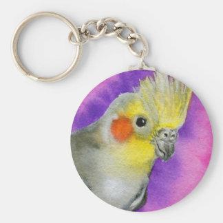 Disco Cockatiel Key Ring