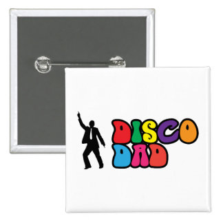 Disco Dad - A Psychedelic Gift for Dad 15 Cm Square Badge