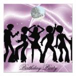 Disco Dance Birthday Party  Invitation