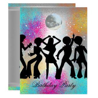 Disco Dance Birthday Party Invitation 1