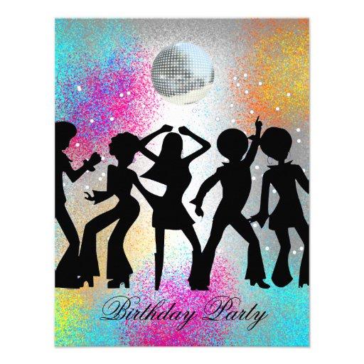 Disco Dance Birthday Party Invitation 1 Personalized Invitations