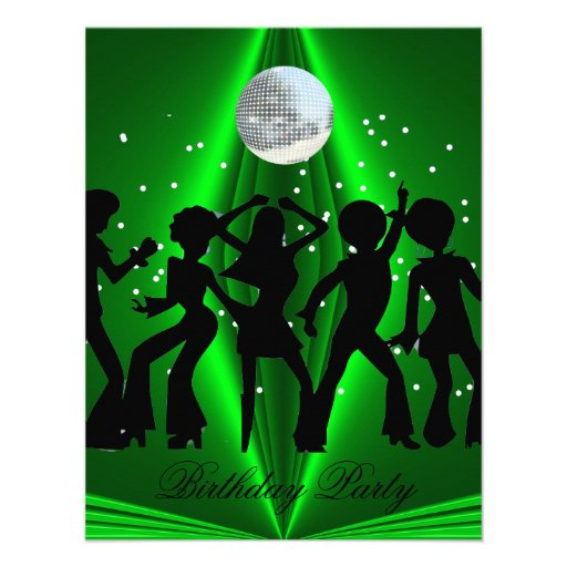 Disco Dance Birthday Party Invitation 3 Invitations
