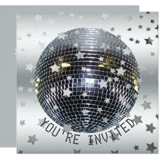 Disco Dance Birthday Party | Retro 70s Disco Party Card
