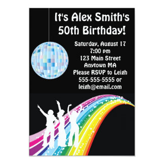 Disco Dance Kid Adult Birthday Invitation
