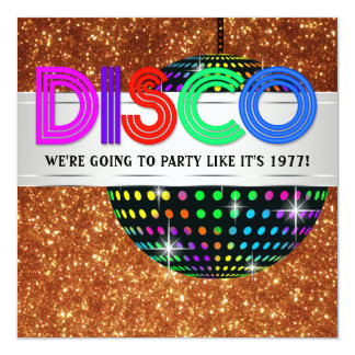 Disco Dance Party Invitations