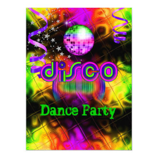 Disco Dance Party Psychedelic music Card