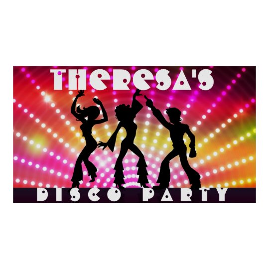 Disco Dance Party Wall Poster