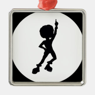 Disco dancer christmas ornament