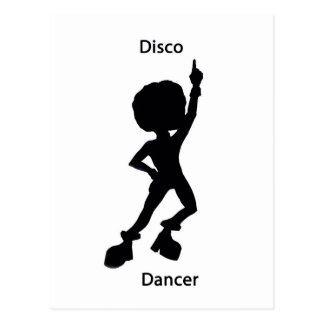 Disco dancer postcard