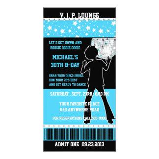 Disco Dancer Silhouette Birthday Ticket Picture Card