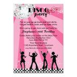 Disco Dancers Birthday 13 Cm X 18 Cm Invitation Card