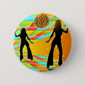 Disco Dancing 6 Cm Round Badge