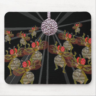 Disco dancing fruit flies mouse mat