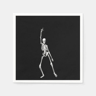 Disco Dancing Halloween Skeleton Napkin Disposable Napkin