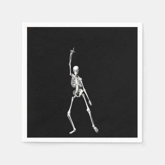 Disco Dancing Halloween Skeleton Napkin Disposable Serviettes