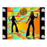 Disco Dancing Post Cards