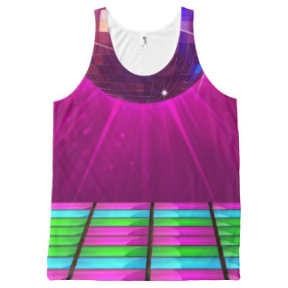 Disco Deva Patterned All-Over Printed Unisex Tank All-Over Print Tank Top