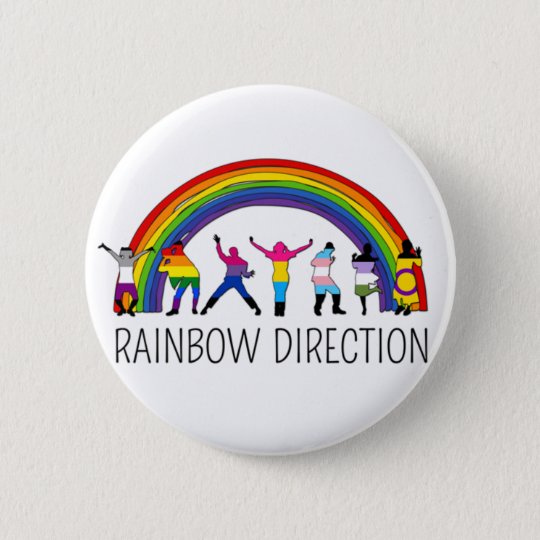 Disco Direction 6 Cm Round Badge