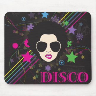 Disco ~ Disco Queen Funky 1980s 80s Music Mouse Pad