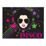 Disco ~ Disco Queen Funky 1980s 80s Music Postcards