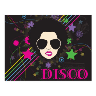 Disco ~ Disco Queen Funky 1980s 80s Music Postcard