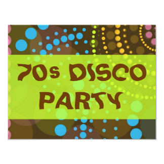 DISCO DOTS 11 CM X 14 CM INVITATION CARD
