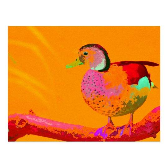 Disco Duck Postcard