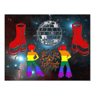 Disco Fever 11 Cm X 14 Cm Invitation Card