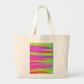 DISCO FEVER Bright Bold Neon Green Pink 70s Retro Tote Bags