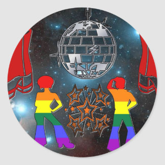 Disco Fever Classic Round Sticker
