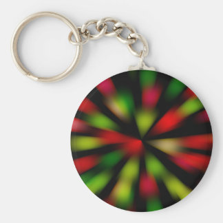 Disco Fever Design Basic Round Button Key Ring