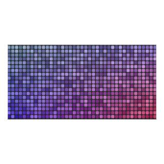 Disco fever pixel mosaic custom photo card