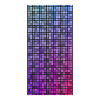 Disco fever pixel mosaic photo card template