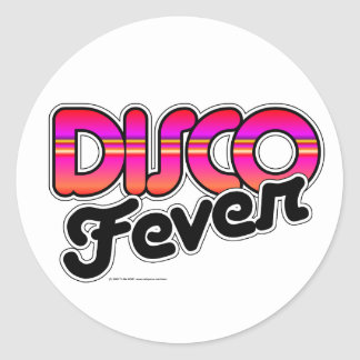 Disco Fever Round Sticker