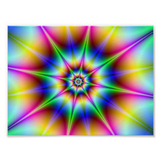 Disco Flash Holographic Optical Illusion Rainbow Posters