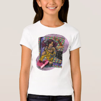Disco -  Girls Baby Doll (Fitted) T-Shirt