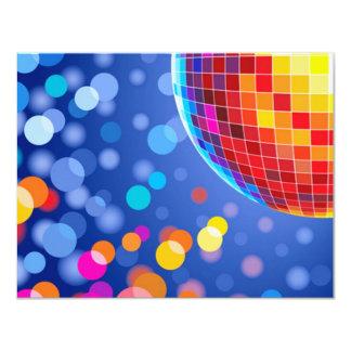 disco globe 4.25x5.5 paper invitation card