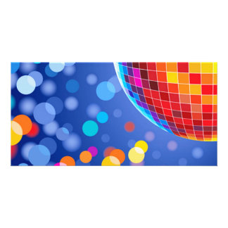 disco globe personalised photo card