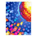 disco globe post card