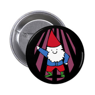 Disco Gnome Night Fever 6 Cm Round Badge