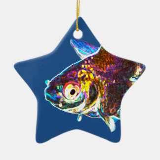 Disco Goldfish Ceramic Star Decoration