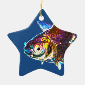 Disco Goldfish Christmas Ornament