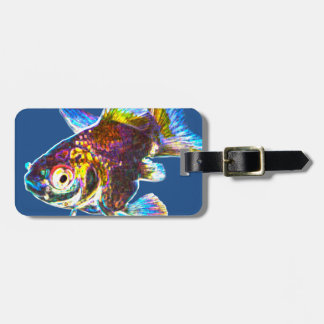 Disco Goldfish Luggage Tag