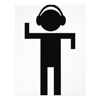 disco head phone type icon 21.5 cm x 28 cm flyer