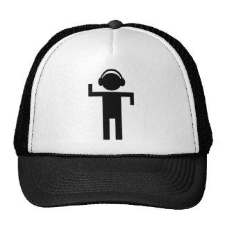 disco head phone type icon cap