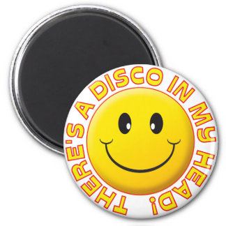 Disco Head Smile Refrigerator Magnets