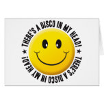Disco In My head Smiley Card