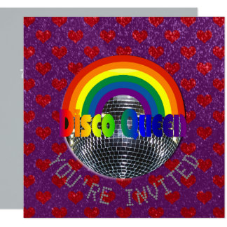 Disco Just Dance Party | Retro 70s Disco Birthday Card