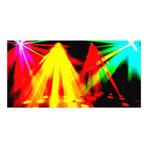 disco_lights - centre pic photo card template